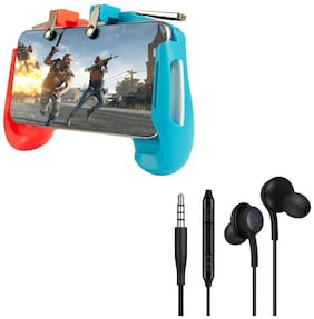 Freckle AK16 Game Controller for Gamepad Shoot and Aim Keys Joystick With Free AKG Super Bass 3.5mm Jack Earphone