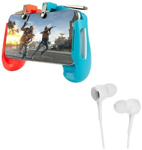 Freckle AK16 Game Controller for Gamepad Shoot and Aim Keys Joystick With Free P1000 Wired Stereo Bass Earphone