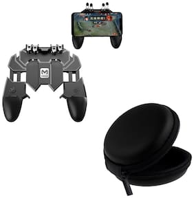 Freckle AK66 Six Finger All-in-One Mobile Game Controller Fire Button With Free Black Earphone Pouch