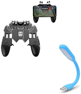 Freckle AK66 Six Finger All-in-One Mobile Game Controller Fire Button With Free Portable Flexible USB LED Light Lamp For USB Device