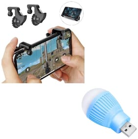 Freckle Mobile Game Controller Shooter Trigger Fire Button Handle With Free Portable LED USB Bulb