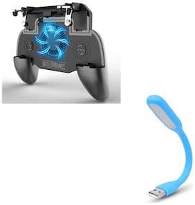 Freckle SR PUBG Trigger Controller Mobile Gamepad 4Fingers Assistant With Free Portable Flexible USB LED Light Lamp For USB Device