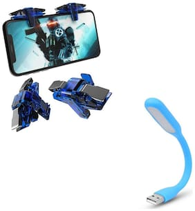 Freckle Thanos X7 Mobile Trigger Battle Royale Sensitive Shoot and Aim With Free Portable Flexible USB LED Light Lamp For USB Device