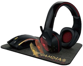 GAMDIAS Artemis E1 3 in 1 Combo, Headset 40mm Driver Unit, Multi-Color Breathing Lighting, 3200 DPI Gaming Mouse