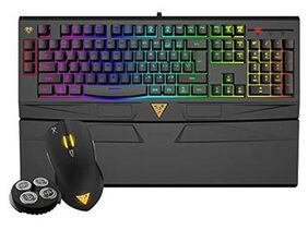 Gamdias Gkc6011 Ares 7 Color Backlit Rgb Membrane Gaming Combo With (Otf) Macro Recording & Ourea Optical Mouse 4000 Dpi
