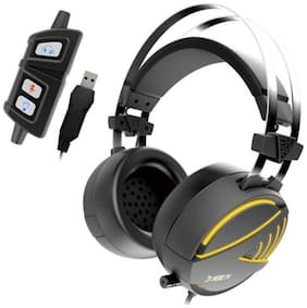 Gamdias Hebe M1 Gaming Headset With 7.1 Virtual Surround Sound, Inline Remote, Rgb Lighting & Usb Extension Jack