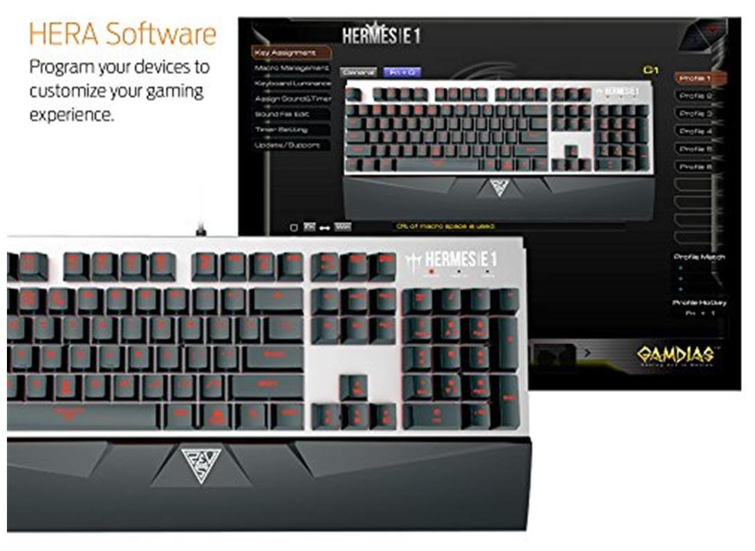 a44d789e63a Buy Gamdias Hermes E1 Responsive Lighting Mechanical Gaming Keyboard With  Demeter E2 Optical Mouse And Nyx E1 Mouse Mat Online at Low Prices in India  ...