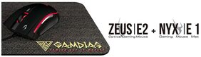 GAMDIAS Zeus E2, 3200DPI Optical Sensor and Switch lifecycle of 3 Million Clicks and Double-Layer Fabrics Mouse mat