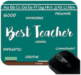 Huppme Best Teacher Rectangle Mouse Pad