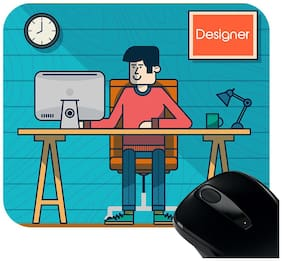 Huppme Designer Rectangle Mouse Pad