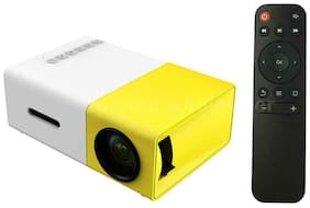IBS HD Theater Support USB HDMI Mini 1080p EU Plug 600 lm Portable Projector 400 lm LED Corded Portable Projector  (Yellow)