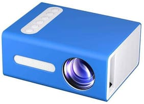 IBS T 300 LED Projector Mini Portable Projection Device with Short-Focus Optical Len TFT LCD Display 320 x 240 Resolution Portable Projector  (Blue)