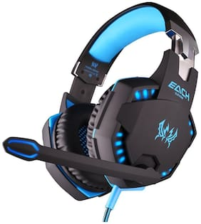 Kotion Each G2100 VIBRATION WIRED Over ear Gaming Headsets With Mic - Blue