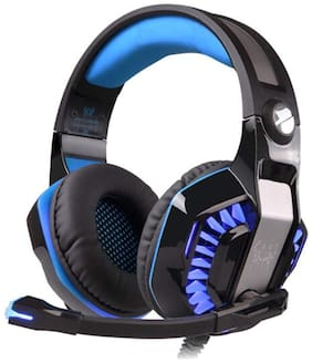Kotion Each G2000 PRO Over ear Gaming Headsets With Mic - Blue