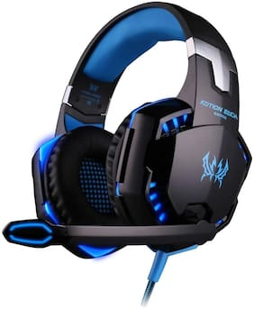 Kotion Each Over ear Gaming Headsets With Mic - Black & Blue