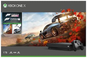 Microsoft 1TB Xbox One X Console (Free Games:Forza Horizon 4 & Forza Horizon Motorsport 7 Bundle) + Call of Duty: Black Ops 4 (CD) Black