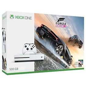 Microsoft 500GB GB with Forza Horizon 3 Download code only, Halo 5: Guardians Download code only, The Crew Download code only, Steep Download code only, Gears of War Ultimate Edition DVD