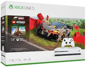 Microsoft Xbox One S 1TB Console With Forza Horizon 4 LEGO Speed Champions, Extra Controller, Steep, Crew and Battlefeild 1