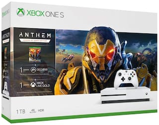 Microsoft Xbox One S 1Tb Console With 4 Games Free (Black)