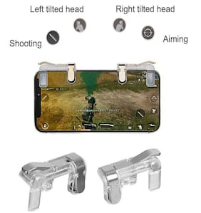 Monk Tech Wireless Shoot & Aim Button For Android ( Transparent )