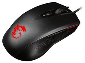 MSI Clutch GM40 Optical Gaming Mouse 5000 DPI with Integrated Anti-Slip side grips and Ambidextrous Design