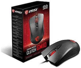 MSI Clutch GM10 Optical Gaming Mouse with Illuminated Wheel with 4-level LED Backlight 2400 DPI