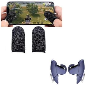 Nory Finger Sleeve Mobile Game Controller Touch Screen Sleeve with Blue Shark Mobile Pubg Trigger- Controller
