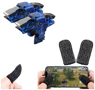 nory Phone Game Triggers Joystick Sensitive Click Shoot and Aim Buttons L1R1 PUBG with Free Gaming Finger Sleeve Touchscreen Finger Gloves Anti-Sweat Touch and Sensitive