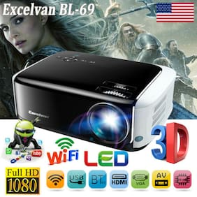 3D FULL HD 1080P Android 6.0 BT WiFi 7000LM LCD LED Projector Home Theater 1+8GB