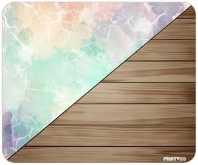 PrintVoo Marble Wood Design Mousepad