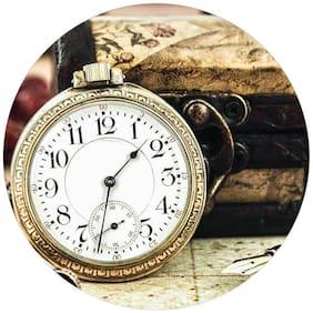 PrintVoo Vintage Clock Design Mousepad