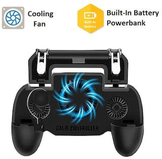 PUBG Mobile Gaming Joystick and Trigger for Mobile with Cooling Fan, Navigator, Built-in 2000 mAh battery Powerbank