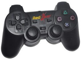 Red Gear USB Gamepads For PC/PS2/PS3 (Black)