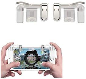Rednix metal PUBG game trigger joystick compatible with all smartphones sensitive shoot aim buttons L1 R1 trigger mobile game controller