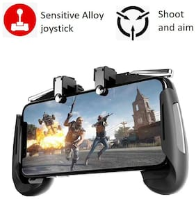 Rednix Mobile Game Controller for PUBG Gamepad Sensitive Shoot and Aim Keys Joysticks for iOS and Android