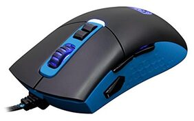 Sades S-16 Gunblade gaming mouse with Avago sensor 4 dpi levels 7 control buttons and 8 customizable LED color (Blue/Black)