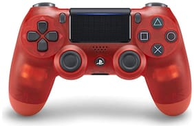 Sony Dualshock V2  Gamepad Controller for PS4 (Red Crystal )
