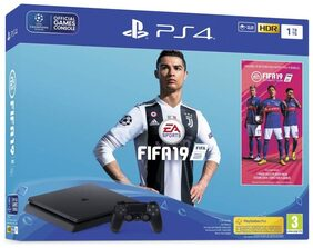 Sony PlayStation 4 (PS4) 1 TB with FIFA 19(Jet Black)