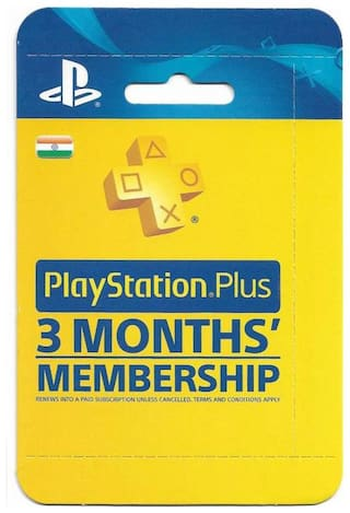 Sony PlayStation Plus: 3 Month Membership (Indian PSN account)