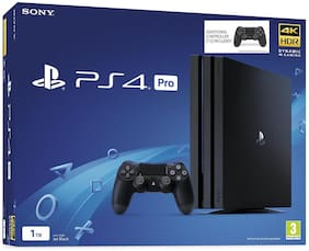 Sony Ps4 Pro with extra Controller 1 TB  (Black)