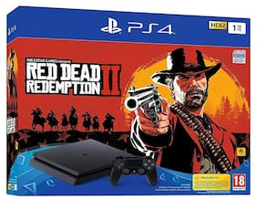 Sony PS4 Slim 1TB Console (Free Game: Red Dead II Redemption, Black)