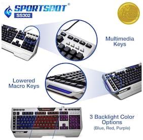 SoundBot SS302 4-in-1 LED Gaming Kit (Metallic Grey and Black)