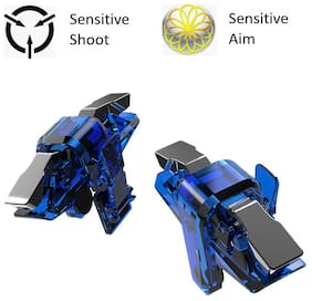 Lady Thikhai Wireless Shoot & Aim Button For Android & iOS ( Blue )
