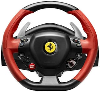 Thrustmaster Ferrari 458 Spider Racing Wheel USB Controller For XBOX (Red & Black)