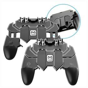 TSV AK66 Six Finger Mobile Gamepad Game Controller for Mobile Phone Game Joystick Metal High Quality Black