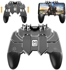 TSV  Present AK66 6 Finger All-in-One PUBG Mobile Remote Controller Gamepad -Black