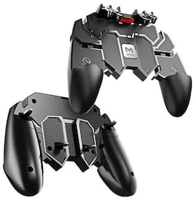 TSV PUBG Trigger Controller, Mobile Gamepad-6 Finger Game Assistant with 4 Highly Sensitive Triggers, Left and right tilt Probe