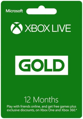 XBOX LIVE 12 Month Gold Membership Card (XBOX 360 & XBOX ONE)