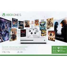 Xbox One S 1TB Starter Bundle with 4K Ultra Blu-ray (White) With Steep & The Crew (DLC)