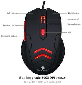 Zebronics Feather Premium Gaming Mouse (Black)